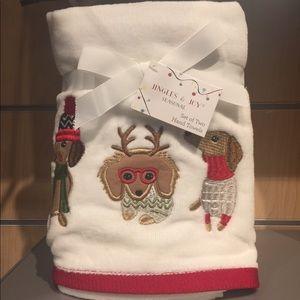 Jingles & Joy Seasonal Dachshund Hand Towels 2 pcs